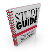 Study Guide Book Cover Preparing for Exam — Stock Photo