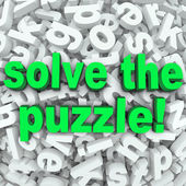 Solve The Puzzle Word Search Jumble Difficult Letter Challenge — Foto de Stock