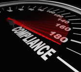 Compliance Speedometer Rules Regulations Standards — 图库照片