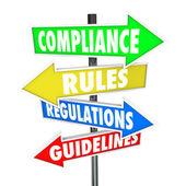 Respect règles fléchage de règlement sur les lignes directrices — Photo