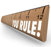 You Rule Ruler Praise Compliment Good Review — Stock Photo