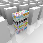 Resume Many Boxes Best One Unique Candidate Standing Out — Stock Photo