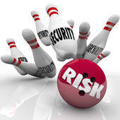 Security Pins Risk Bowling Ball Danger Risking Safety — Stock Photo