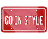 Aller dans la plaque d'immatriculation voiture automobile véhicule de style vanity — Photo