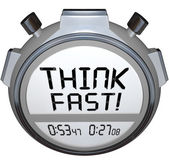 Think Fast Timer Stopwatch Quiz Answer Contest — Stock Photo