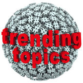 Trending Topics Hot Post Update Message Hash Tag Pound Symbols — Stock Photo