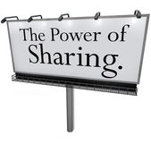 The Power of Sharing Billboard Message Donate Give Help Others — Stock Photo