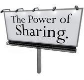 El poder de compartir el mensaje de cartelera donar ayuda dar otros — Foto de Stock