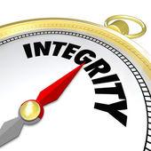 Goldene kompass wort kompass ehrlichkeit vertrauenswürdig ansehen — Stockfoto