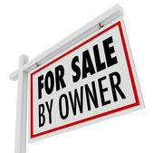 For Sale By Owner Real Estate Home Open House Sign — Stock Photo