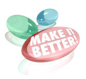 Make It Better Vitamin Pill Supplements Improve Increase Results — Stock Photo