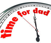 Time for Dad Clock Fatherhood Father's Day Appreciation — Stock Photo