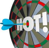 Hot Dart Popular Great Performance Dartboard — Stock Photo