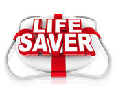 Life Saver Preserver Help in Moment of Crisis or Danger — Stock Photo