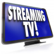 Streaming TV HDTV Set Online Internet Television Viewing — Stock Photo
