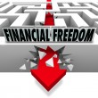 Stock Photo: Financial Freedom Break Through Money Problems Bankruptcy Bills