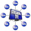 Stock Photo: Streaming TV Content Entertainment Programs Movies Sports HDTV
