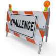 Challenge Word Barricade Overcome Adversity Difficulty — Stock Photo