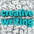 Creative Writing Letter Background Creativity Imagination — Zdjęcie stockowe