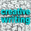 Foto de Stock  : Creative Writing Letter Background Creativity Imagination