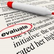 Stock Photo: Evaluate Word Dictionary Definition Feedback Review