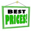 Stock Photo: Best Prices Business Sign Hanging Store Window Shop