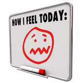 How I Feel Today Stressed Overworked Frustrated Sad Face — Stock Photo