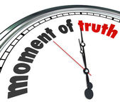 Moment of Truth Clock Answer Outcome Verdict Announced — Stock Photo