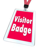 Visitor Badge Tourist Nametag Lanyard Special Temporary Access — Stock Photo