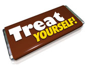Treat Yourself Chocolate Candy Bar Indulgence — Stock Photo