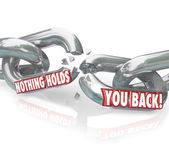 Freedom Nothing Holds You Back Chain Links Breaking Free — Stock Photo