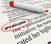 Evaluate Word Dictionary Definition Feedback Review — Stock Photo