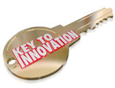 Key to Innovation Change Improvement Creativity Imagination — Stock Photo