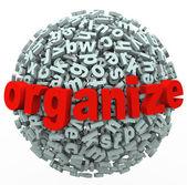 Organisera din tankar brev sfär vettigt från röran — Stockfoto