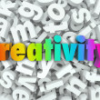 Stock Photo: Creativity Imagination 3d Letter Word Background Creative Thinki