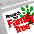 Research Your Family Tree Online Website Research Database — Foto de Stock