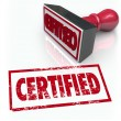 Certified Stamp Official Verification Seal of Approval — Stock Photo
