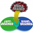 Left Right Brain Dominant Venn DIagram Whole Brained — Stock Photo #27672657