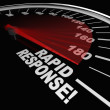 Rapid Response Speedometer Emergency Crisis Service — Stock Photo