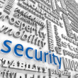 Foto Stock: Financial Security 3D Word Background Prosperity Stability
