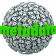 Stock Photo: MetDatNumber Pound Hash Tag Sphere MetadatHashtags
