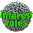 Stock Photo: Interest Rates Percent Sign Symbol Sphere Mortgage Loan