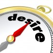 Desire Word Compass Pointing to Passion Wants Needs — Stock Photo