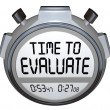 Time to Evaluate Words Stopwatch Timer Evaluation — 图库照片