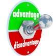 Competitive Advantage Vs Disadvantage Toggle Switch Choice — Stock Photo