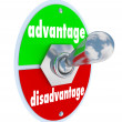 Stock Photo: Competitive Advantage Vs Disadvantage Toggle Switch Choice