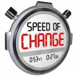 Zdjęcie stockowe: Speed of Change Stopwatch Timer Clock Time to Innovate