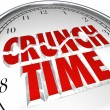 Crunch Time Clock Hurry Rush Deadline Final Moment — Stock Photo #27673689