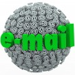 Stock Photo: Email Word At Symbol Signs Electronic Mail Message