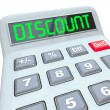 Stock Photo: Discount Word Calculator Special Savings Clearance Sale